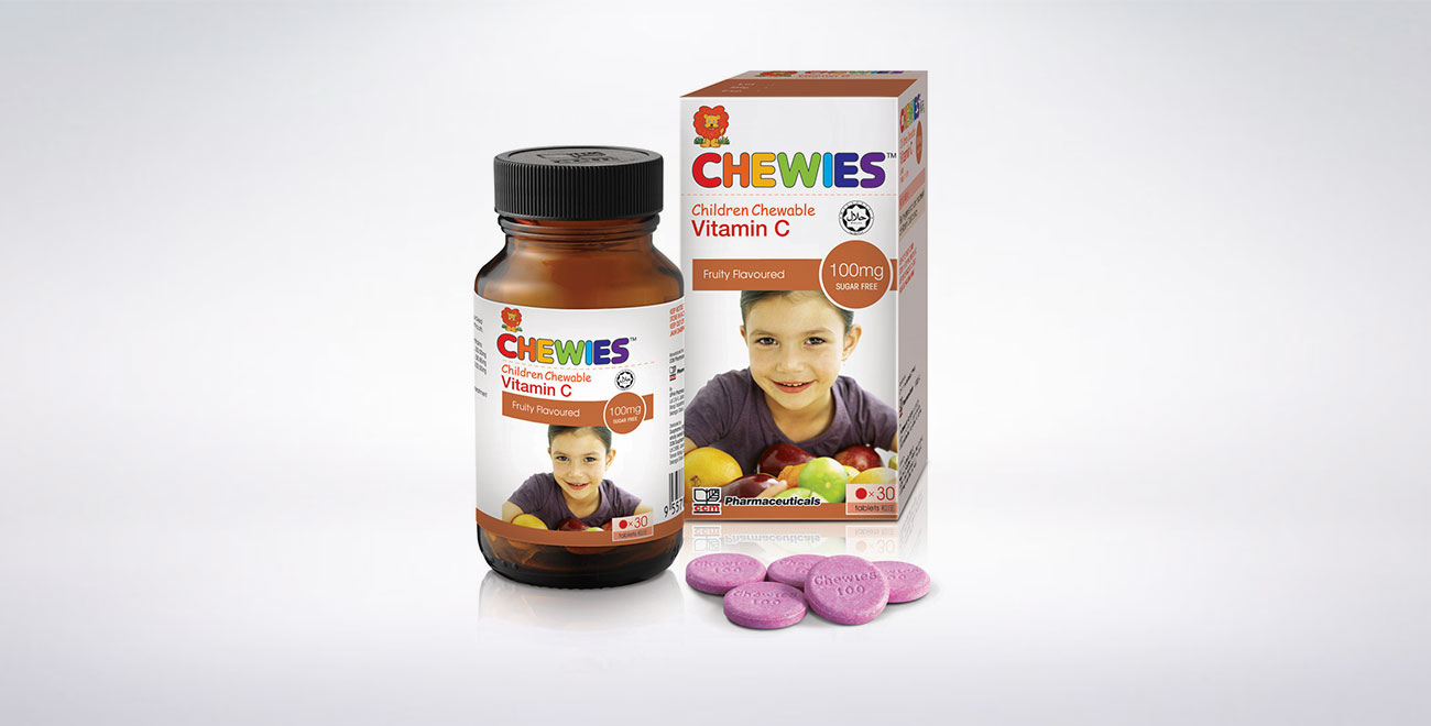 CHEWIES Vit C 100mg Tablet SF (Fruity)
