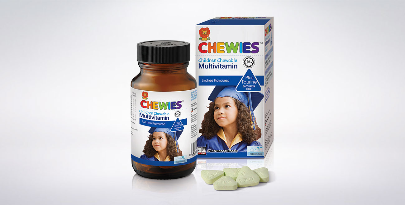 CHEWIES Multivitamin with Taurine Tablet (Lychee)